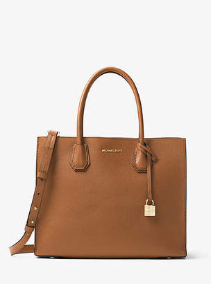 Michael Kors Mercer Large Leather Tote $298 thestylecure.com