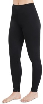 Cuddl Duds Women's Softwear Lace-Edge Leggings