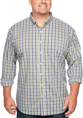 Dockers Mens Long Sleeve Gingham Button-Front Shirt-Big and Tall