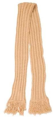 Marc Jacobs Wool Rib Knit Scarf