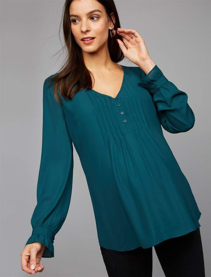A Pea In The Pod Pleated Maternity Blouse