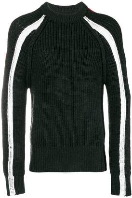 Maison Margiela colour-block knitted sweater