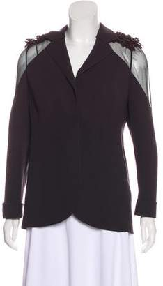 Akris Lace-Trimmed Wool Jacket
