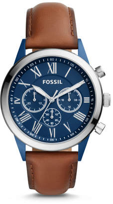 Fossil Flynn Midsize Chronograph Brown Leather Watch