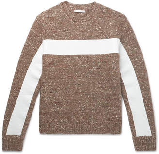 Helmut Lang Panelled Donegal Wool, Alpaca And Silk-Blend Sweater