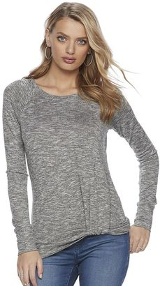 Women's Juicy Couture Marled Twist Top $36 thestylecure.com