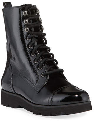 Donald J Pliner Camren Cap-Toe Patent Leather Hiker Boots