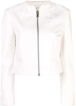 Alice + Olivia Alice+Olivia Yardley cropped leather jacket
