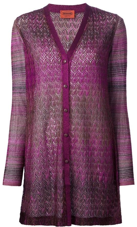 Missoni sheer fine knit cardigan