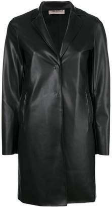 Blanca faux leather midi jacket