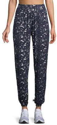 Terez Splatter Foil Jogger Lounge Pants