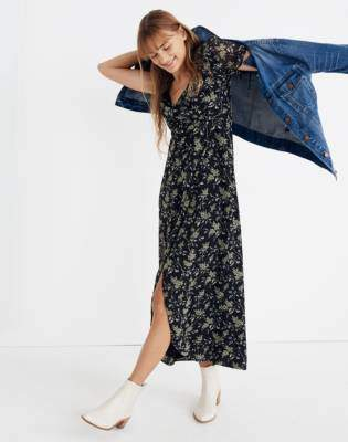 Madewell Tulip-Sleeve Maxi Dress in Antique Flora