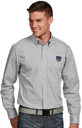 Antigua Men's Sacramento Kings Associate Plaid Button-Down Shirt