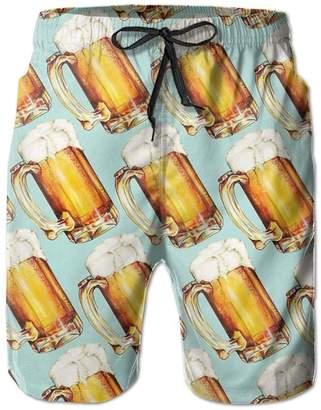 Trunks IOPVDJ Men's Beer Summer Holiday Quick-Drying Swim Beach Shorts Board Shorts