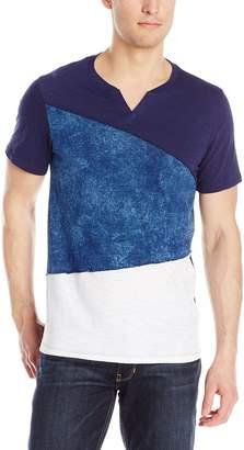 GUESS Men's Silas Block Slit Neck T-Shirt