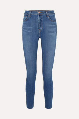 J Brand Leenah High-rise Skinny Jeans - Mid denim