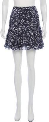 Chloé Silk Floral Print Mini Skirt