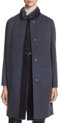 Maximilian Furs x Manzoni 24 Wool Coat with Mink Fur Vest - 100% Exclusive