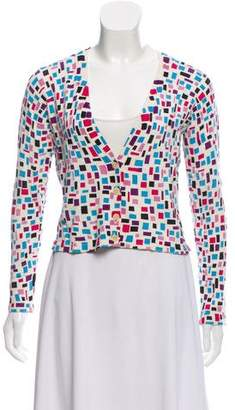 Diane von Furstenberg Printed Button-Up Cardigan