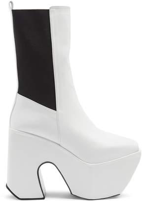 Marques Almeida MARQUES'ALMEIDA Open-toe leather platform boots