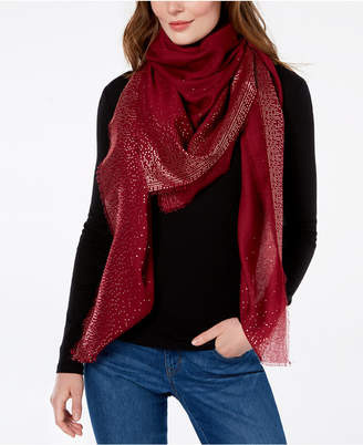 INC International Concepts I.N.C. Ombré Metallic Foil Oversized Square Scarf, Created for Macy's