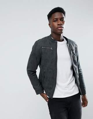 Esprit Leather Look Biker Jacket