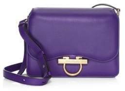 Salvatore Ferragamo Leather Ring Shoulder Bag