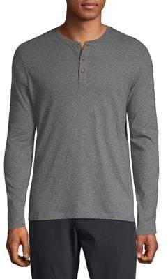 Black & Brown Black Brown Long-Sleeve Super Soft Cotton Henley