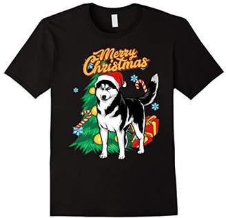 Breed Merry Christmas Siberian Husky Dog T-Shirt