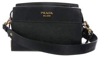 Prada Saffiano Esplanade Shoulder Bag