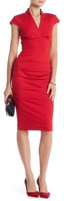 Nicole Miller Cap Sleeve Ponte Dress