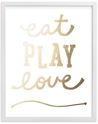 Pottery Barn Kids Eat. Play. Love. Wall Art by Minted® 8x10, White