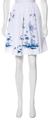 Raquel Allegra Printed Knee-Length Skirt
