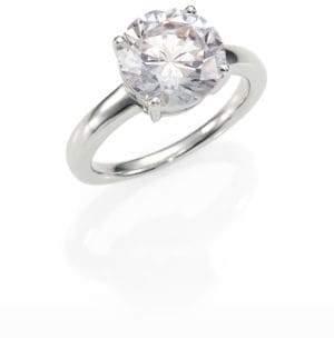 Adriana Orsini Sterling Silver Brilliant-Cut Ring