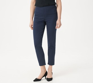 Isaac Mizrahi Live! Regular 24/7 Stretch Print or Solid Ankle Pants