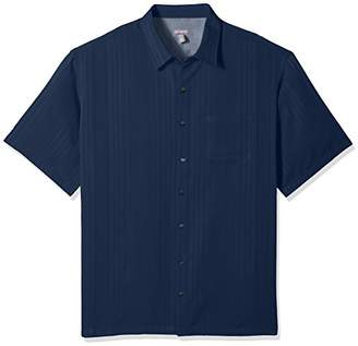 Van Heusen Men's Big and Tall Short Sleeve Button Down Rayon Poly Shirt