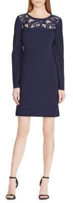 Lauren Ralph Lauren Petite Lace Yoke Jersey Shift Dress
