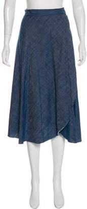 MISA Los Angeles Chambray Wrap Skirt