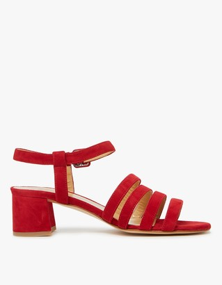 Palma Low Sandal in Cherry Suede $420 thestylecure.com