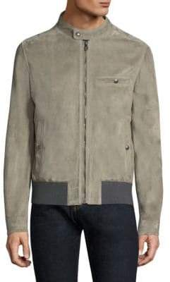 Salvatore Ferragamo Suede Zip Jacket