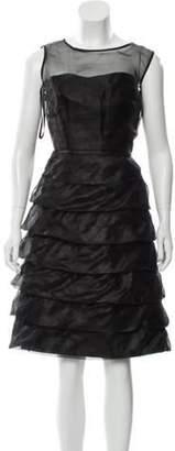 Marc Jacobs Ruffled Knee-Length Dress Black Ruffled Knee-Length Dress