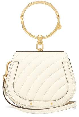 Chloé Nile Small Quilted Leather Cross Body Bag - Womens - White