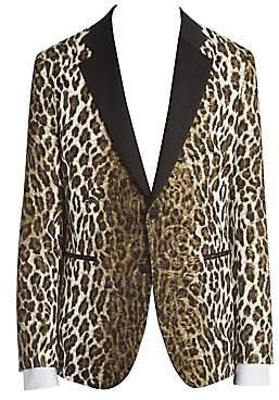 Versace Men's Cheetah Jacquard Blazer