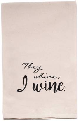 ellembee Home They Whine, I Wine Tea Towel