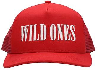 Amiri Wild Ones Trucker Hat In Red Cotton