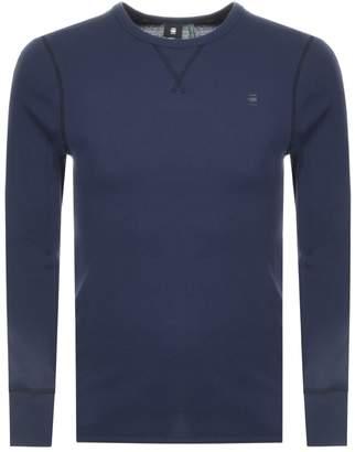 G Star Raw Long Sleeve Korpaz T Shirt Blue