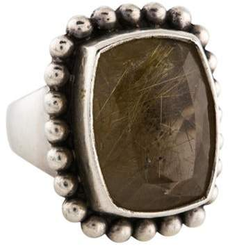 Stephen Dweck Rutilated Quartz Cocktail Ring silver Rutilated Quartz Cocktail Ring