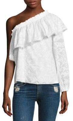 Parker Rihanna One-Shoulder Cotton Blouse