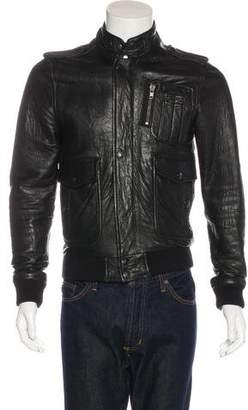 Surface to Air Leather Flight Jacket
