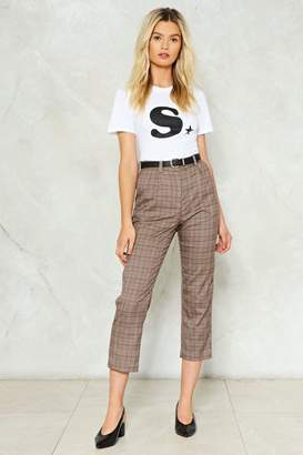 Nasty Gal Shake It Out Plaid Pants